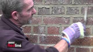 How to repoint mortar joints