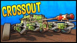 Crossout - KISS OF DESTRUCTION! 4 Augers + 1 Buzzsaw + 2 Explosive Sticks Melee Build Gameplay