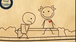 Whatsapp status video | Animated cute love story | Romantic cartoon for Whatsapp Status
