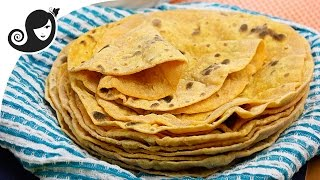 Sweet Potato Flatbread (Roti) | Oil-free + Yeast-free + Vegan/Vegetarian Recipe