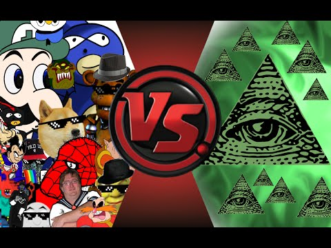 MLG and YOUTUBE POOP vs ILLUMINATI FINAL FACE OFF Cartoon Fight Club Episode 33