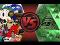 MLG And YOUTUBE POOP Vs ILLUMINATI FINAL FACE OFF Cartoon Fight Club Episode 33 mp3