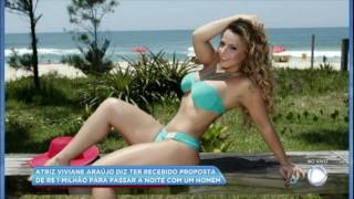 Hora da Venenosa: Viviane Araújo revela proposta de R$ 1 milhão para passar a noite com homem