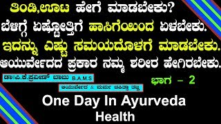 Healthy Life Style In Ayurveda - 2 | Dr.P.K Praveen Babu |