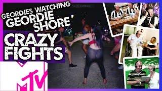 Geordies Watching Geordie Shore - Memorable Fights | MTV