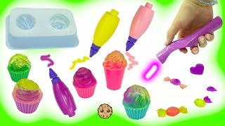 Does It Work? Gel Light Up Art Pen Cra-Z-Doodle 3D Cupcake + Ice Cream Treats Maker