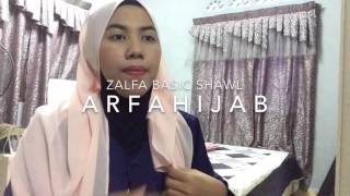 tutorial shawl chiffon || Arfahijab