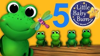 Five Little Speckled Frogs | Nursery Rhymes | from LittleBabyBum!