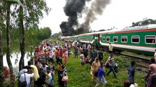 Live Train Accident in Bangladesh