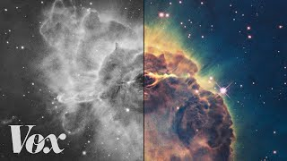 How scientists colorize photos of space