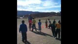 Caleb at Track Practice