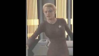 seven of nine (Jeri Ryan) sexy catsuit compilation
