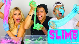 OUR VERY FIRST SLIME!!   CROESBROS Ft. REBECCA ZAMOLO