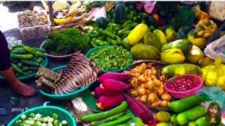 Asian Street Food, Foods Selling On Street In Cambodian Market, Amazing Street Food In My Village