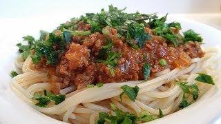 Kıymalı Makarna | Spagetti Bolonez | Spaghetti Bolognese