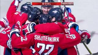 Ovechkin rips one over Elliott's glove for his 29th of the season