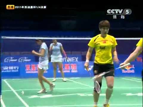 [2011 Sudirman Cup WD] Wang Xiao Li/Yu Yang vs Jwala Gutta/Ashwini Ponnappa [2]
