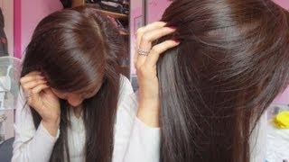 How To Dye Black Hair to Brown (without bleaching) - very light ash blonde | Emily