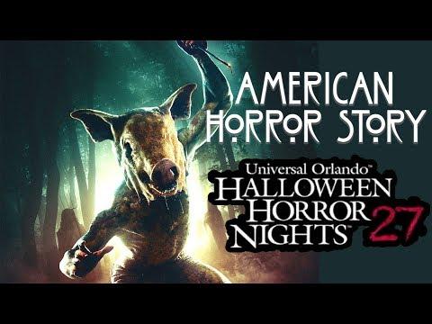 American Horror Story Vol 2 Haunted House Walk Through 4K HHN 27 Universal Orlando