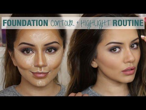 Tutorial Foundation Contour & Highlight Routine Kaushal Beauty