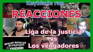 Reacciones:Keyblade rap - Los vengadores vs Liga de la justicia   Épicas Batallas Rap del Frikismo