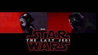 Star Wars: The Last Jedi IN LEGO! - side by side version