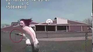 Raw: Video shows wanted suspect, Madison Dickson, being run over by police