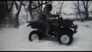 ✇ ATV In Snow - Grizzly 4 x 4 and Argo UTV 6 x 6 - feat. Magazine Girl