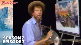 Bob Ross - Barn at Sunset (Season 7 Episode 7)