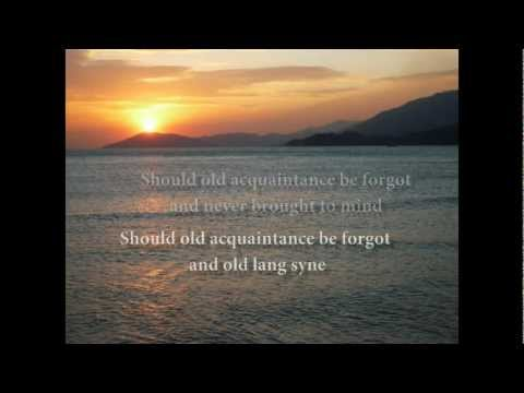 Auld Lang Syne with lyrics