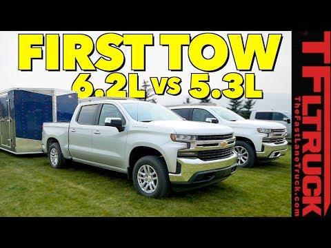 Compared 2019 Chevy Silverado 1500 5.3L vs 6.2L V8 First Tow Review