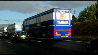 Yamaha MotoGP Trucks Arriving at Lisbon 25.10.2010 (Part 1)