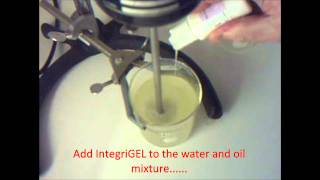 How to make a stable OW emulsion using IntegriGEL OW Series from Integrity Ingredients Corporation