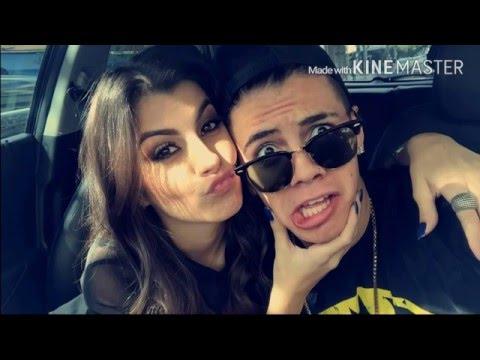 Mc Biel beija Nah Cardoso no Snap