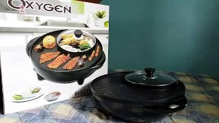 LAZADA UNBOX! SHABU SHABU PARTY! 2 in 1 BBQ Grill and Steam Pot Fry Pan - Oxygen