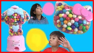 Hello Kitty ガムボール マシン キティちゃん マイメロちゃん 対決!! こうくんねみちゃん Sanrio My melody Gum ball machine