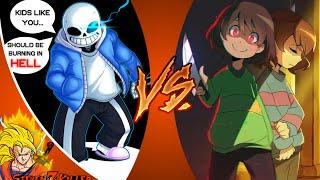 Sans vs Frisk_Chara Battle - Stronger Than You (Undertale Animation) REACTION!!!