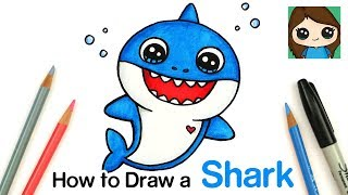 How to Draw Baby Shark Easy