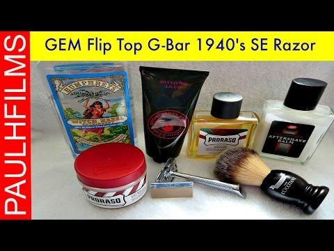 GEM Flip Top G-Bar 1940's SE Razor