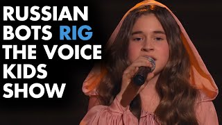 Russian Bots rigged THE VOICE KIDS for Mikella Abramova