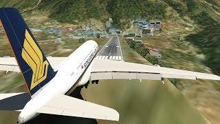 Big Planes Landing at Lukla Airport Nepal [XP11]