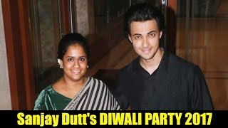 Salman's Sister Arpita Khan Attend Sanjay Dutt's Diwali Party 2017