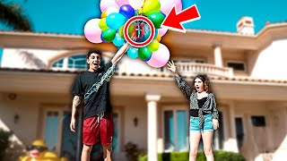 TYING IPHONE TO BALLOONS PRANK!! **this shouldn't have happened**