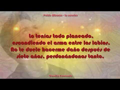 Pablo Alborán Lo nuestro con letra canción original