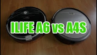 ILIFE A4S vs A6: Features and Cleaning Test