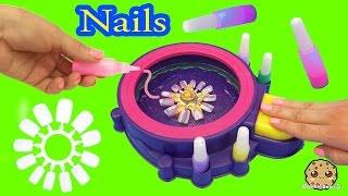 Fail - Make Your Own Custom Nails with Glitter Nail Swirl Art Kit Maker  - Cookieswirlc Video