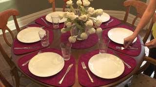 How To Fit Placemats on a Round Table