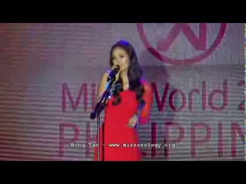 Megan Young Miss World Philippines 2013 Talent Competition Missosology