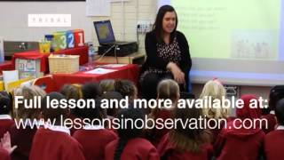 Lesson observation: Year 1 Literacy KS1 (excerpt)