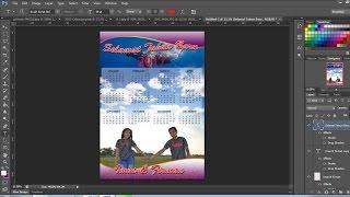 cara membuat kalender 2017 dengan photoshop